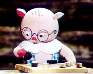 Про поросятко, яке вміло грати в шашки